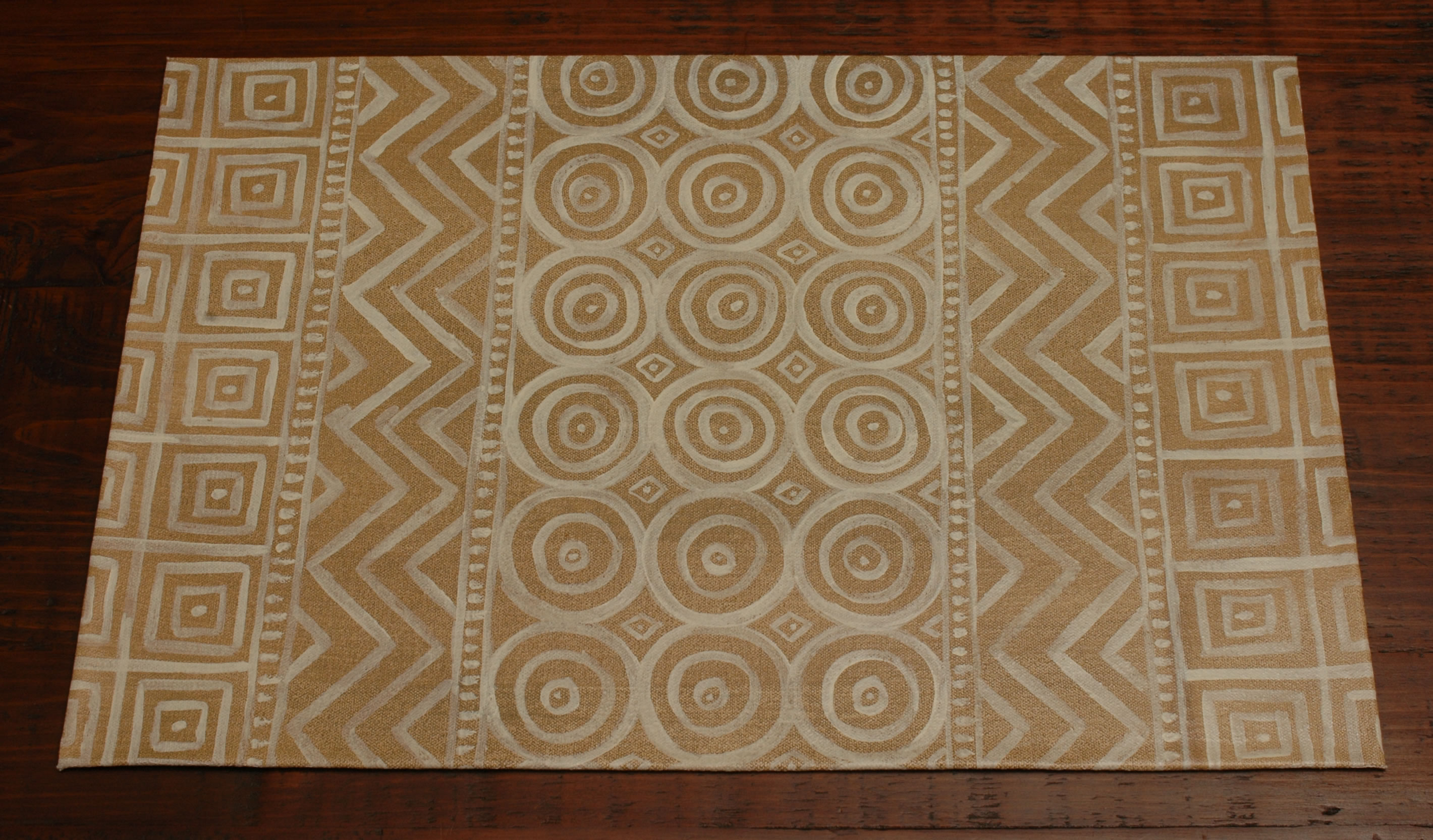Mud Cloth Rug Angled Living Room Eclectic With